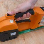 GT ONE akkumulátoros pántológép 10-16 mm-es PET és PP pántszalagokhoz akkumulátorral és töltővel 4