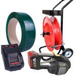 Akkumulátoros pántológép MB620 készlet PET pántszalag + adagoló + akkumulátor + töltő